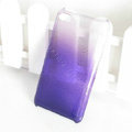 Gradient Purple Silicone Hard Cases Covers For iPhone 5G