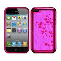 Slim Metal Aluminum Silicone Cases Covers for iPhone 5G - Rose