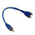 Car stereo audio cable signal line connected amplifier Host line