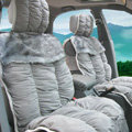 Car Seat Covers Cushion Winter Plush pads suede fabric Eiderdown - Gray