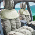 Car Seat Covers Cushion Winter Plush pads suede fabric Eiderdown - Green