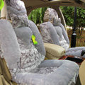 Winter Car Seat Covers Cushion Thicken Warm Plush pads Magnetic therapy - Gray