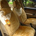 Winter Auto Seat Covers Warm Plush pads Maple Leaf Car Seat Cushion - Brown