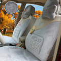 Winter Auto Seat Covers Warm Plush pads Maple Leaf Car Seat Cushion - Gray