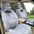 Winter Fleece Auto Seat Covers Warm Plush pads apple Car Seat Cushion - Gray