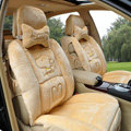 Winter Fleece Snoopy Car Seat Cushion Warm Plush pads Auto Seat Covers - Yellow