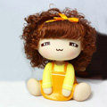 Car decoration accessories ornaments dimensional Moss shook his head doll - Yellow girl