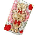 Cartoon Bear bling crystal cases covers for your mobile phone model - Yellow
