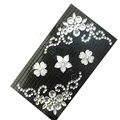 Flower 3D bling crystal cases covers for your mobile phone model - Black