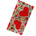Two heart bling crystal cases skin for your mobile phone model - Red