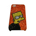 Bling covers Angry Birds diamond crystal cases for iPhone 4G - Orange