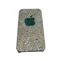 Bling covers Apple diamond crystal cases for iPhone 4G - White