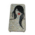 Bling covers Beauty diamond crystal cases for iPhone 4G - Black