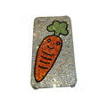 Bling covers Carrot diamond crystal cases for iPhone 4G - White