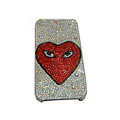Bling covers Eye diamond crystal cases for iPhone 4G - White
