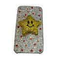 Bling covers Five Star diamond crystal cases for iPhone 4G - Yellow