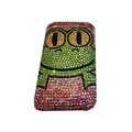 Bling covers Frog diamond crystal cases for iPhone 4G - Rose