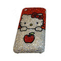 Bling covers Hello Kitty diamond crystal cases for iPhone 3G - White
