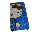 Bling covers Hello Kitty diamond crystal cases for iPhone 4G - Blue