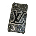 Bling covers LV diamond crystal cases for iPhone 4G - Black