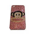Bling covers Paul Frank Julius diamond crystal cases for iPhone 4G - Pink