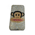 Bling covers Paul Frank Julius diamond crystal cases for iPhone 4G - White