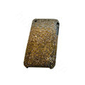 Bling covers Point diamond crystal cases for iPhone 3G - Gold