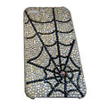 Bling covers Spider Network diamond crystal cases for iPhone 4G - Black