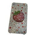 Bling covers Strawberry diamond crystal cases for iPhone 4G - Pink