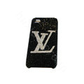 Bling covers White LV diamond crystal cases for iPhone 4G - Black