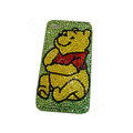 Bling covers Winnie the Pooh diamond crystal cases for iPhone 4G - Green