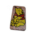 Bling covers Winnie the Pooh diamond crystal cases for iPhone 4G - Pink