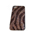 Bling covers Zebra diamond crystal cases for iPhone 4G - Brown