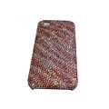 Bling covers Zebra diamond crystal cases for iPhone 4G - Pink