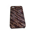 Bling covers Zebra2 diamond crystal cases for iPhone 4G - Brown