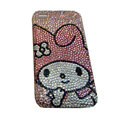 Bling covers Cartoon Cute diamond crystal cases for iPhone 4G - Pink