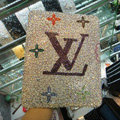 Luxry Bling covers LV diamond crystal cases for iPad - White
