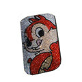 Luxury Bling Holster covers Ali Cat diamond crystal cases for iPhone 4G - Red