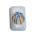 Luxury Bling Holster covers Basketball diamond crystal cases for iPhone 4G - White