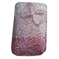 Luxury Bling Holster covers Bowknot diamond crystal cases for iPhone 4G - Pink