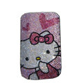 Luxury Bling Holster covers Heart Hello Kitty diamond crystal cases for iPhone 4G - Pink
