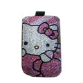 Luxury Bling Holster covers Hello Kitty diamond crystal cases for iPhone 4G - Pink