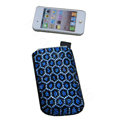 Luxury Bling Holster covers Leopard Grain diamond crystal cases for iPhone 4G - Blue