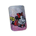Luxury Bling Holster covers Minnie Mouse diamond crystal cases for iPhone 4G - Yellow