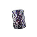 Luxury Bling Holster covers All White diamond crystal cases for iPhone 4G - Purple