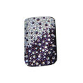 Luxury Bling Holster covers All diamond crystal cases for iPhone 4G - Purple