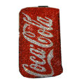 Luxury Bling Holster covers Coca-Cola diamond crystal cases for iPhone 4G - Red