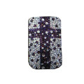 Luxury Bling Holster covers Cross diamond crystal cases for iPhone 4G - Purple