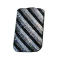 Luxury Bling Holster covers Slash diamond crystal cases for iPhone 4G - Black