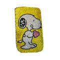 Luxury Bling Holster covers Snoopy diamond crystal cases for iPhone 4G - Yellow